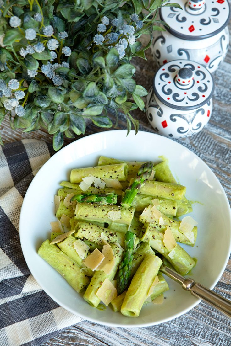 A bright green, fresh tasting pasta dish to celebrate spring.