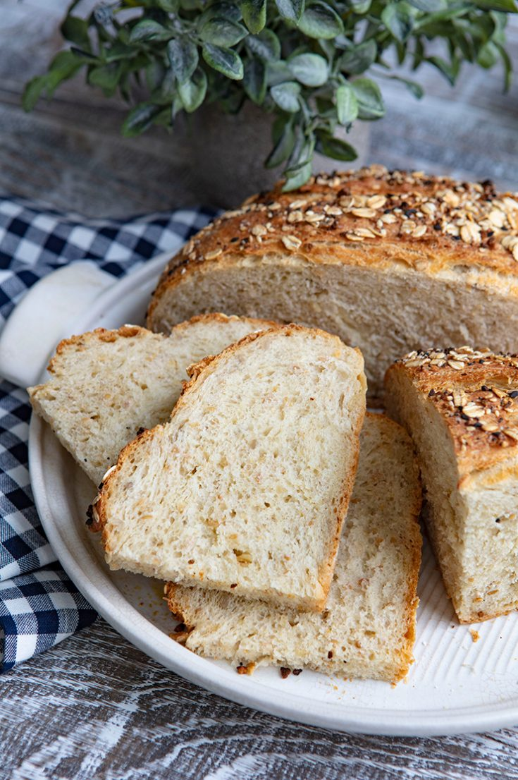 An easy to bake loaf with a chewy crust and tender crumb.