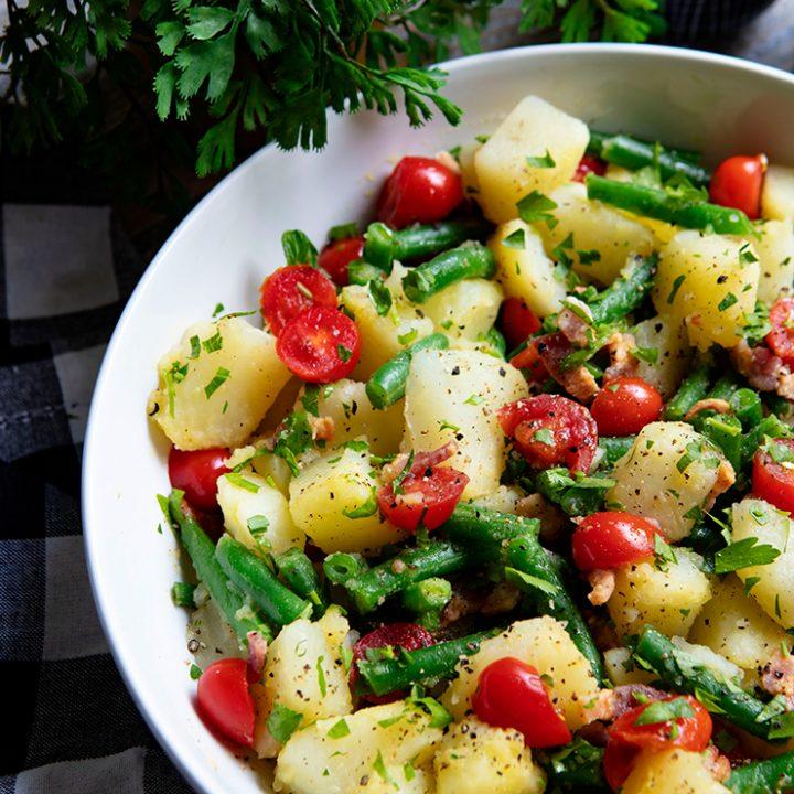 Italian Potato Salad With Green Beans & Tomatoes