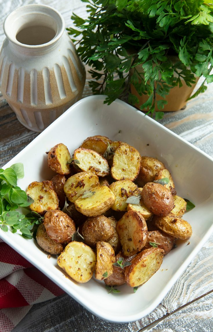 Crispy and golden brown on the outside with a creamy inside, these potatoes pair well with any grilled or roasted meat.