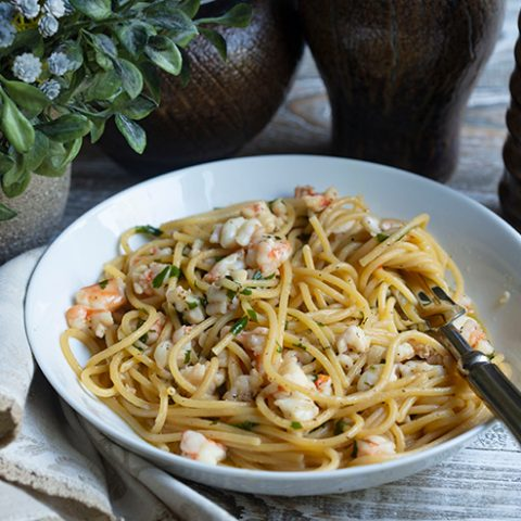 Pasta With Garlic Shrimp
