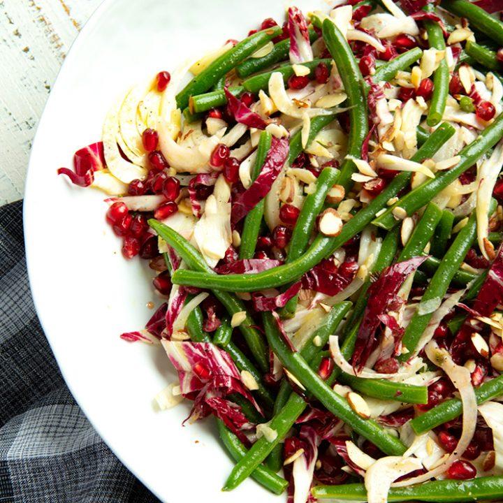 Holiday Green Bean & Radicchio Salad