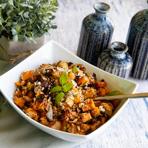 Roasted Root Vegetables With Farro