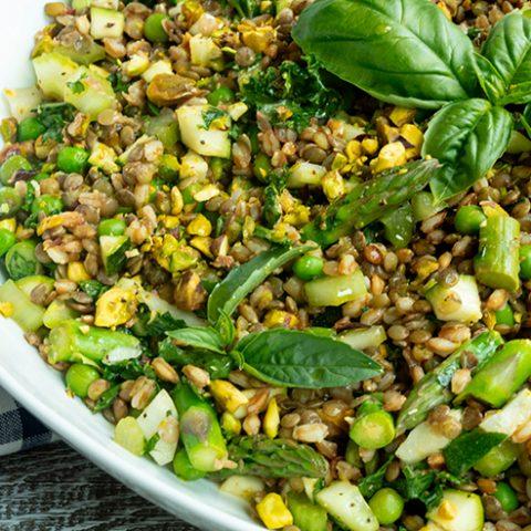 Spring Lentil & Farro Salad