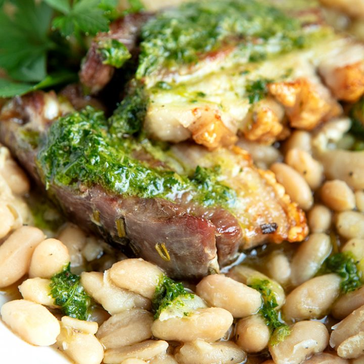 Pork Belly With Cannellini Beans
