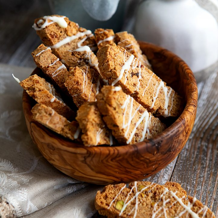 Cinnamon Spice Pistacchio Biscotti