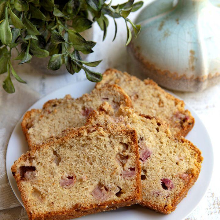 Cinnamon Rhubarb Quick Loaf