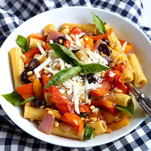 Sautéed Pepper & Onion Pasta